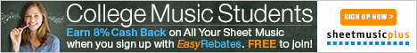 Spartiti musicali Plus Easy Rebates