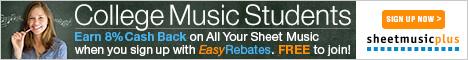 Spartiti musicali Plus Easy Rebates