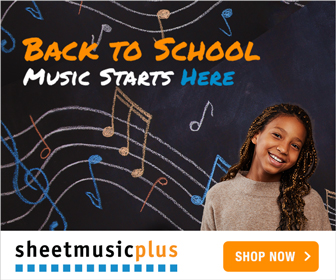 Sheet Music Plus 300 x 250 Dynamic Banner