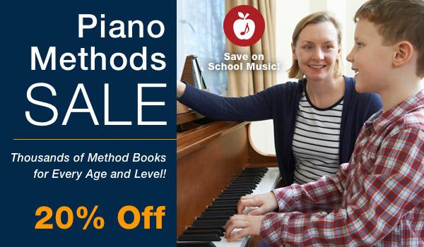20% off Piano Methods Sale