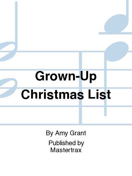 grown up christmas list lyrics spanish christian