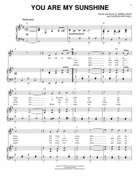 Mandolin mandolin tabs you are my sunshine : Jimmie Davis sheet music to download and print - World center of ...