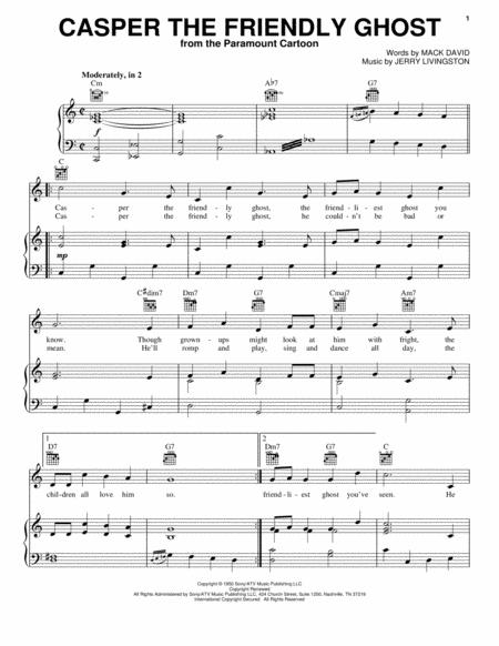 by tv theme song and jerry livingston for piano voice and guitar chords only children filmtv halloween pianovocalguitar 2 pages - Halloween Theme Song Guitar