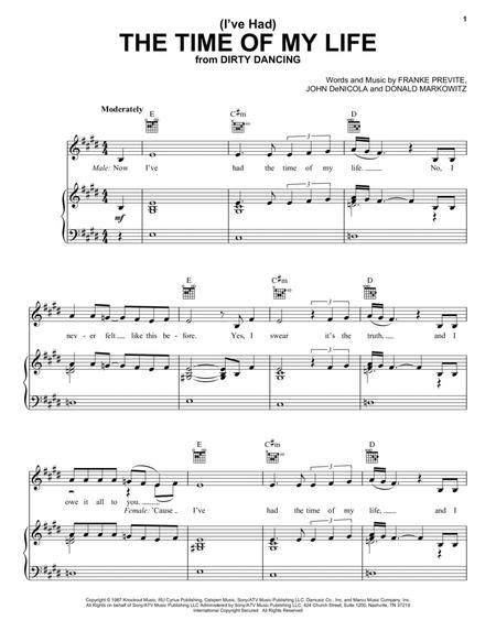 Dirty Dancing Partitions Musicales Imprimer Mondial De La Partition Num Rique