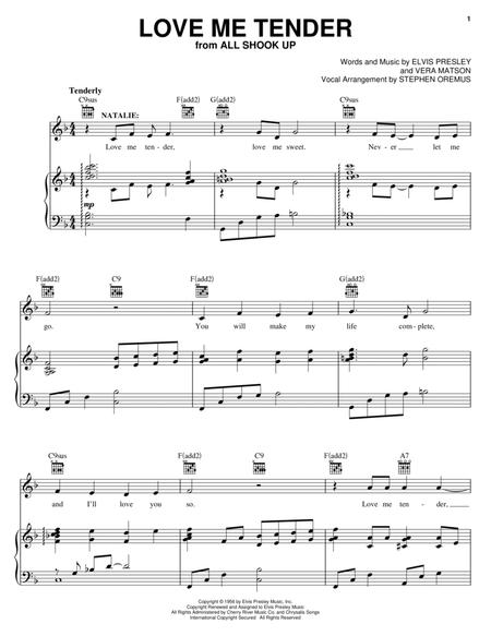 Presley - All Shook Up sheet music for piano solo PDF