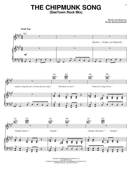 Alvin And The Chipmunks Christmas Song Sheet Music Free - alvin and the chipmunks movie sheet ...