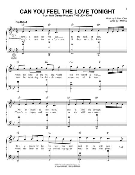 Can You Feel The Love Tonight Pdf String Quartet Music