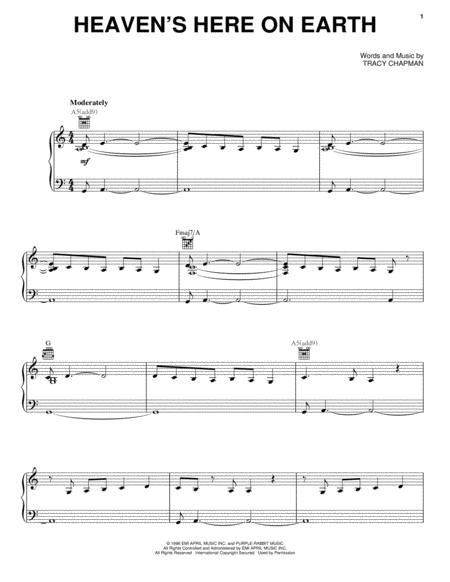 Tracy Chapman sheet music to download and print - World center of ...
