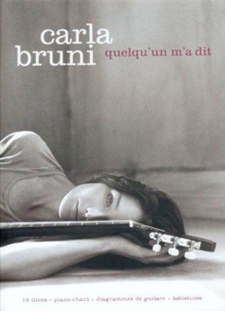 Sheet music carla bruni quelqu 39 un m 39 a dit piano for Carla bruni le ciel dans une chambre