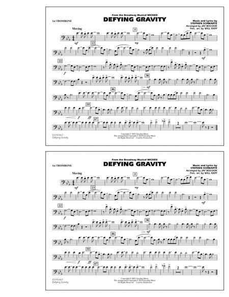 defying gravity sheet music free pdf