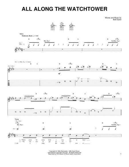 Bob Dylan All Along The Watchtower Chords - satukis.info