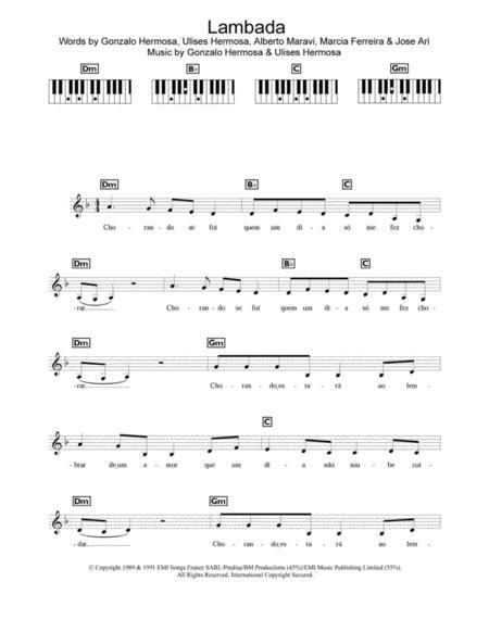 partition lambada flute