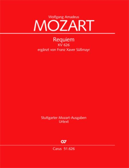 mozart requiem vocal score pdf