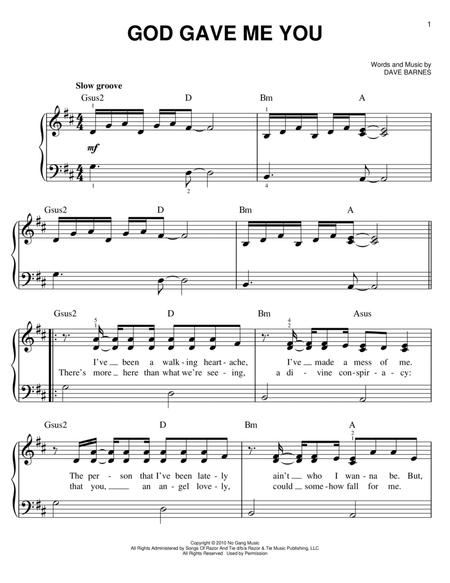 Drum drum and lyre chords : Download Dave Barnes Digital Sheet Music and Tabs