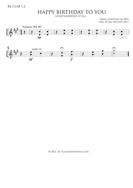 CLARINET Sheet Music To Download And Print
