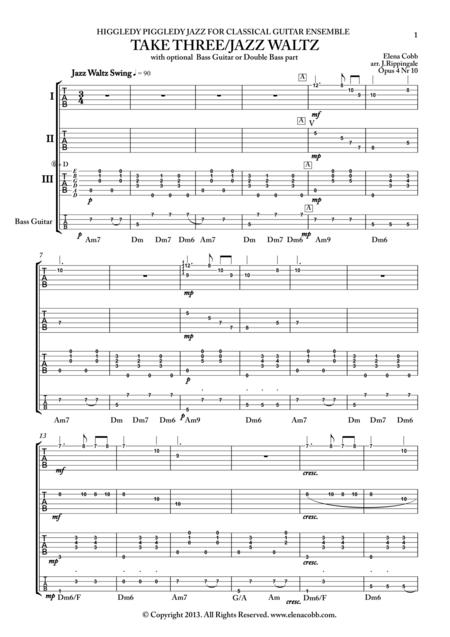 Jazz Guitar Quartet Sheet Music - guitar quartets los angeles classical guitarsclassical sheet ...
