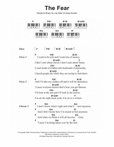 Buy Lily Allen S...22 Lily Allen Chords