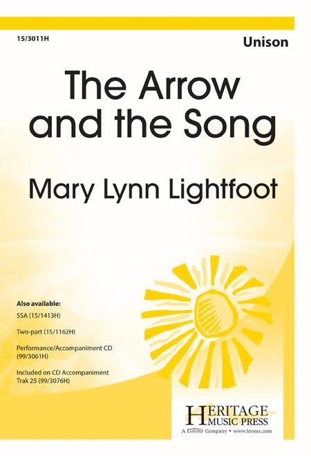 """arrow and the song Arrow and the song henry wadsworth longfellow's poem, """"arrow and the song"""" is a lyric poem giving an inspiration to a relationship or a friendship between two."""