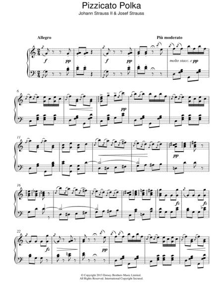 On the Beautiful Blue Danube Strauss Beginner Piano Sheet Music