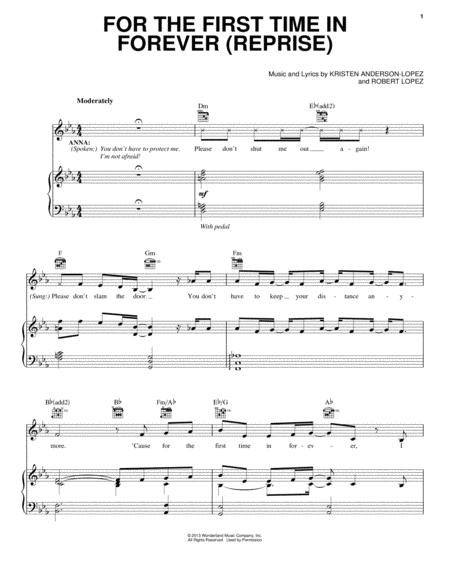 Download Digital Sheet Music of Robert Lopez for Piano, Vocal and ...