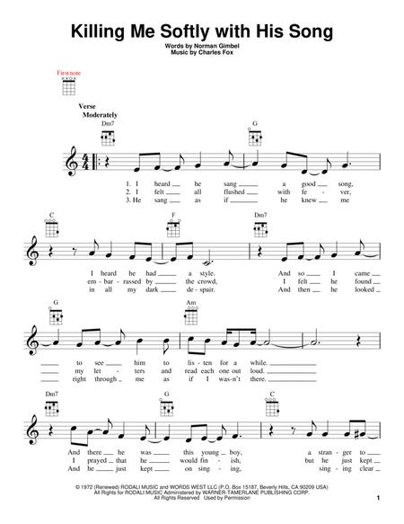 Roberta Flack and Fugees sheet music to download and print - World center of digital sheet music ...