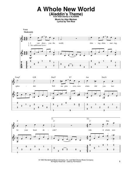 Alan Menken Tim Rice sheet music to download and print - World ...