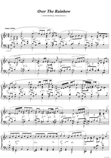 somewhere over the rainbow trumpet sheet music pdf