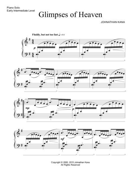 Download Digital Sheet Music Of Heaven For Piano Solo