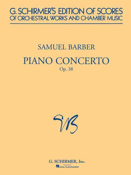 Sheet Music : Samuel Barber: Concerto For Piano Op.38 (2 Piano Score ...