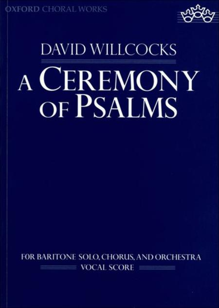 Sheet Music A Ceremony Of Psalms