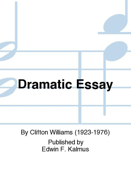 Dramatic essay sheet music violin 2