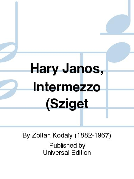 Sheet Music Zoltan Kodaly Intermezzo Hary Janos Piano