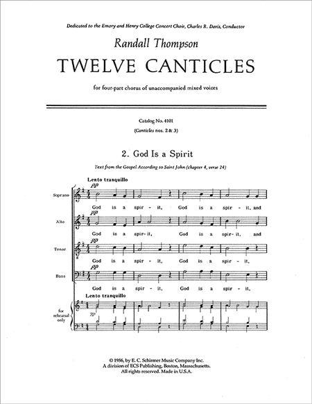 Benedicite: Vocal score