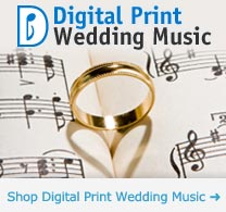 Digital Print Wedding Sheet Music