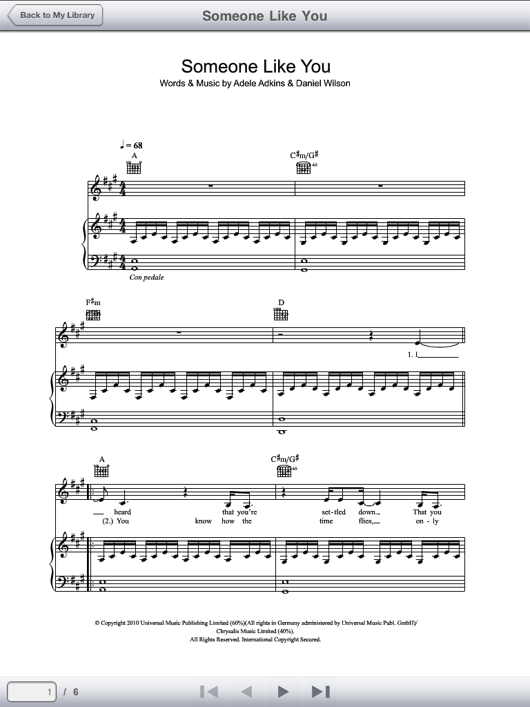 Sheet Music Plus Digital Print iPad App