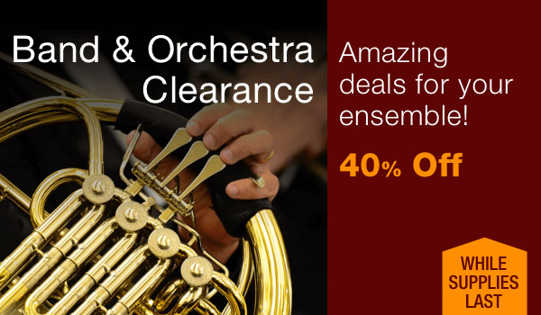 40% off Band & Orchestra Clearance