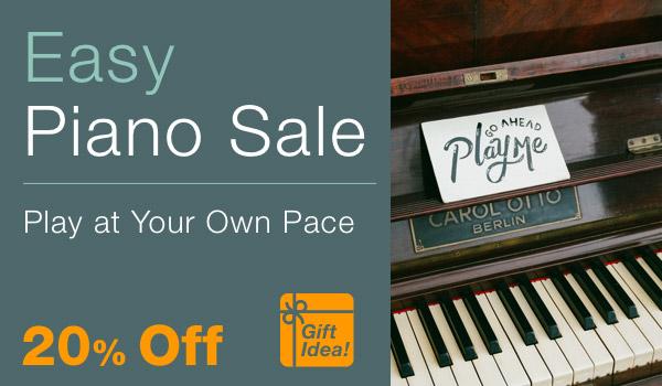 20% off Easy Piano Sale