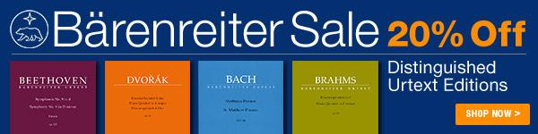 20% off Barenreiter Sale - Shop Now >