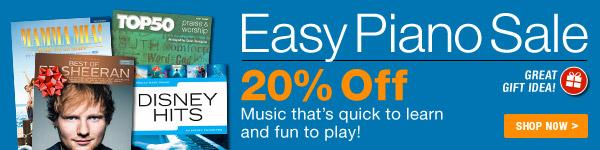 Easy Piano Music Sale