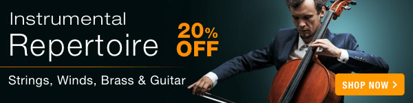 20% off Instrumental Repertoire Sale - Shop Now >