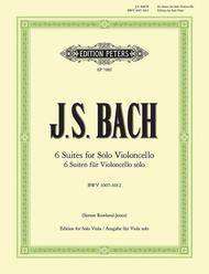 Suites (Sonatas) - Arranged For Solo Viola