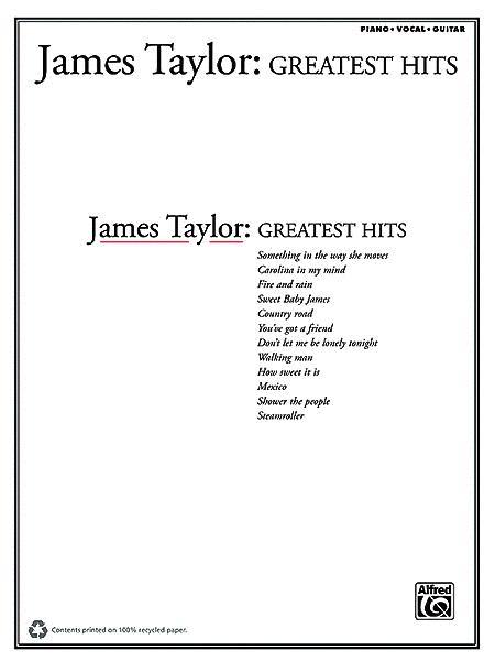 Livres De Chansons James Taylor Partition James Taylor