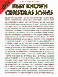 Sheet Music 120 Best Known Christmas Songs Song Lyrics Guitar Tabs Piano Music Notes Songbook