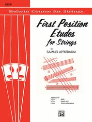 First Position Etudes for Strings: Violin Sheet Music: Samuel Apple..