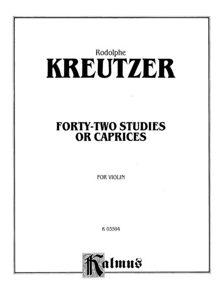 Forty-two Studies or Caprices sheet music