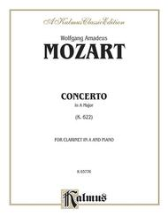 Concerto In A Major For Clarinet, K. 622