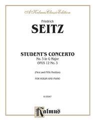 Student's Concerto No. III in G Major, Op. 12