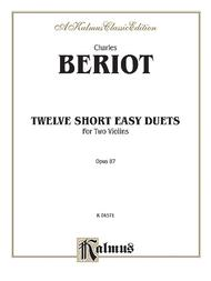 Twelve Short Easy Duets, Op. 87