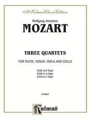 Three Quartets, K. 285, 298, 370