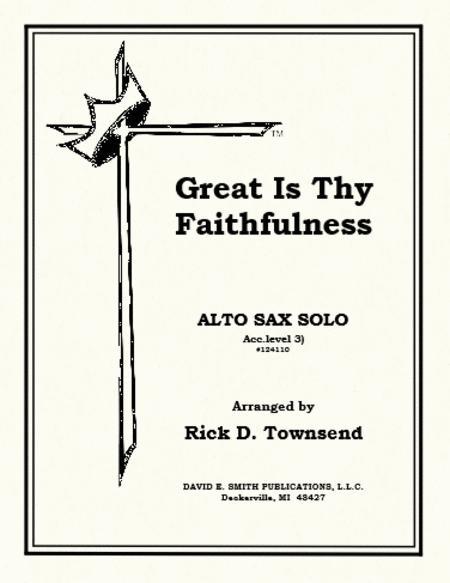 Sheet music: Great Is Thy Faithfulness (Alto Saxophone)